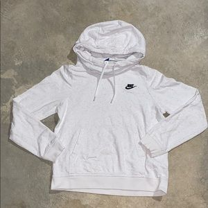 White Speckled Color Nike Hoodie